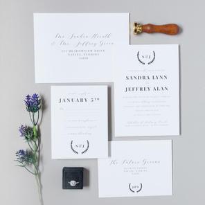 The Sandra Wedding Invitation Suite