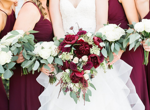 Burgundy, Navy, and Gold Wedding | The Orlo | Tampa, FL