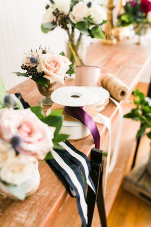 wedding florals, ribbon, flowers, Cotton & Magnolia, St. Pete Florist