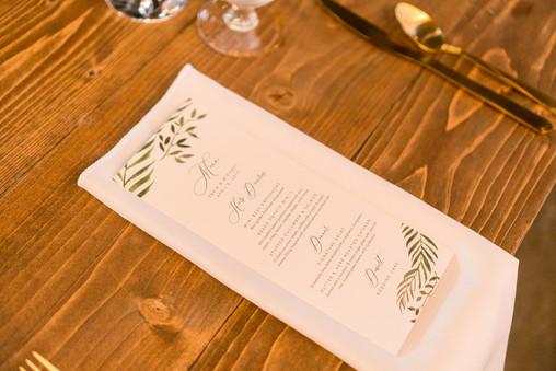 Real Florida Wedding: Custom designed menu