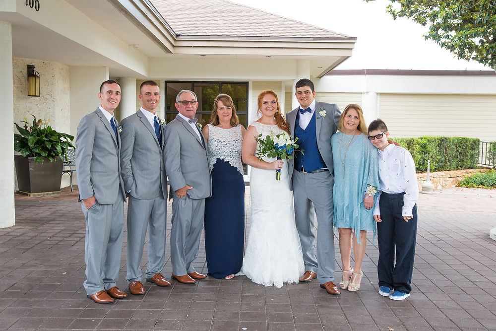 wedding portraits, family, marriage, bride and groom