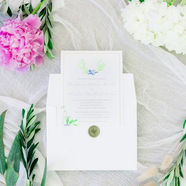 Real Florida Wedding: Custom Invitation Suite