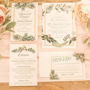 The Leigha Wedding Invitation Suite