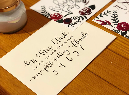 5 ways to incorporate calligraphy into your wedding!