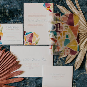 Stained Glass Wedding Invitation Suite
