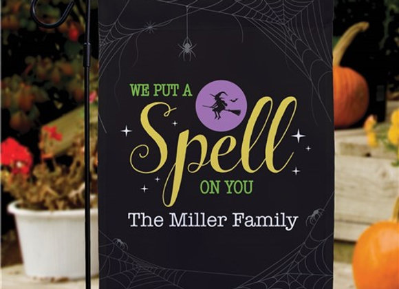 Personalized Put A Spell On You Garden Flag