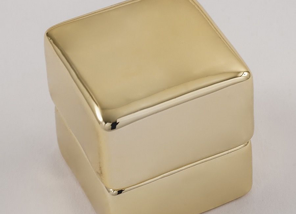 Metallic Electroplated Ring Box