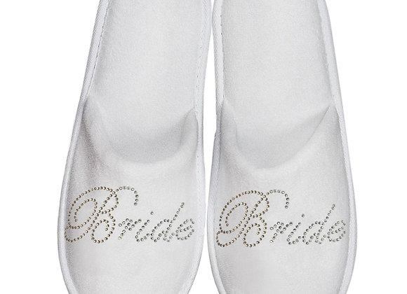 Bride Sequin Close Toed Slipper