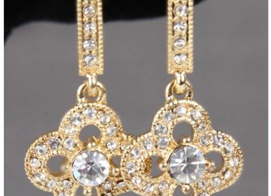 Crystal Clover Earrings