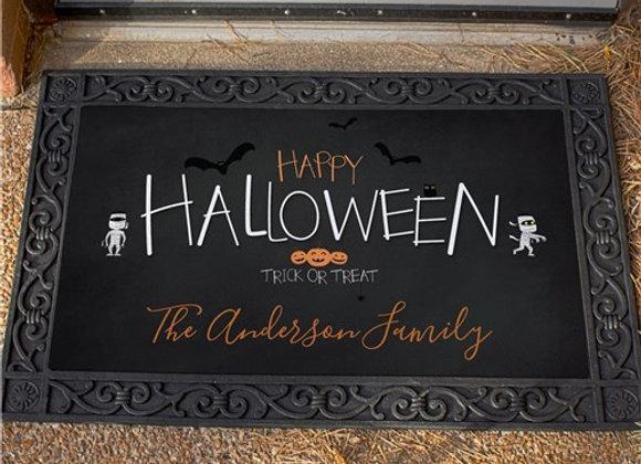 Personalized Happy Halloween Doormat