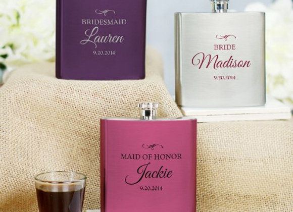 Personalized Bridal Party Flask
