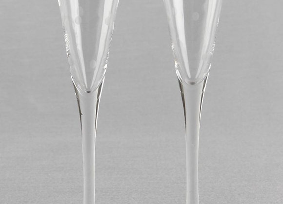 Dotted Pattern Toasting Flutes Set