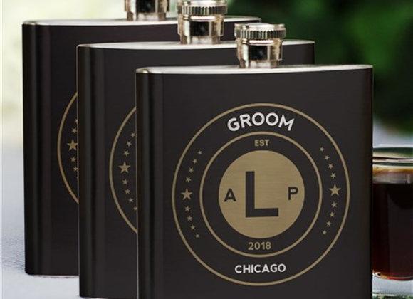Personalized Groomsmen Flask