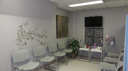 Salle d'attente en mammographie