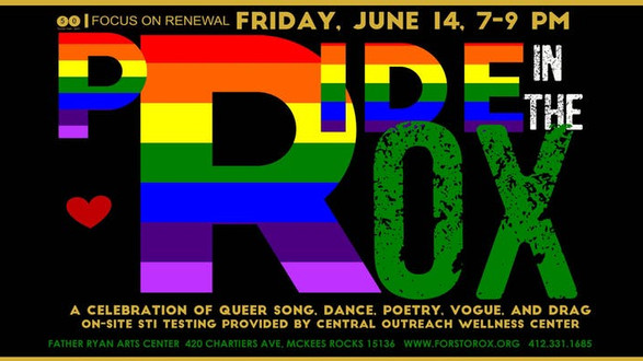 Friday June 14 PRIDE in the Rox  Ryan Arts Center McKees Rocks 7pm Doors 7:30 Show - Trevor Miles Dance