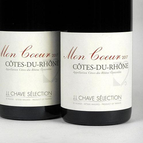 Côtes Du Rhône, Moncoeur, Jean-Louis Chave Selection, 2017 France, Rhone