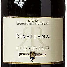 Rioja Tinto 'Rivallana', Ondarre, 2018, Spain