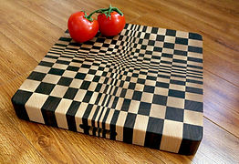 End Grain Cuttng Board of Maple, Walnut & Cherry