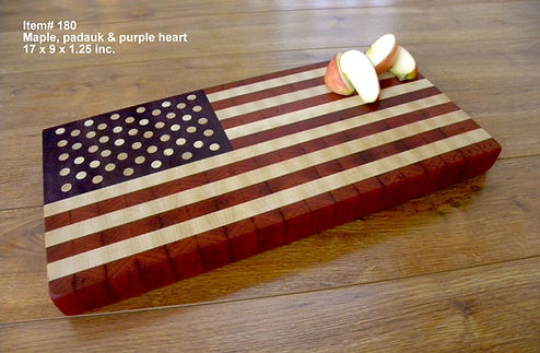 American Flag End Grain Cutting Board