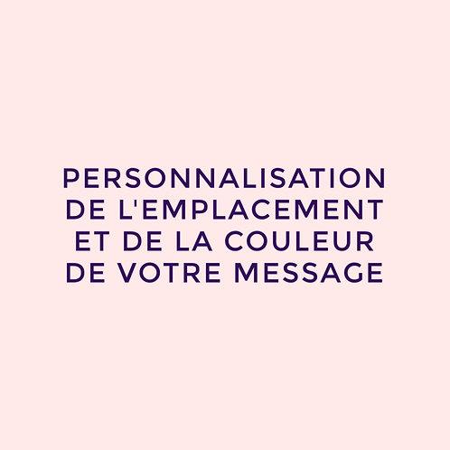 Personnalisation de votre message
