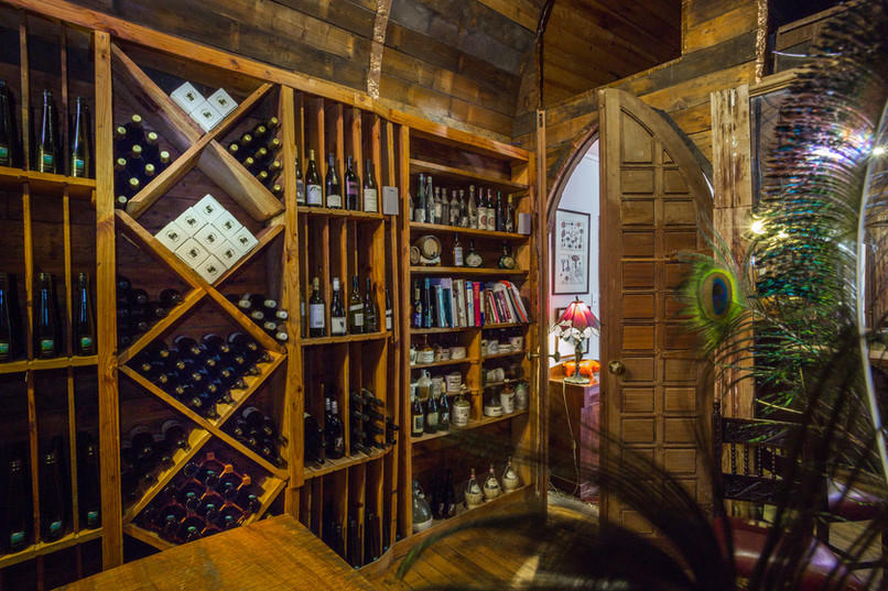 Wine cellar at Hawley House