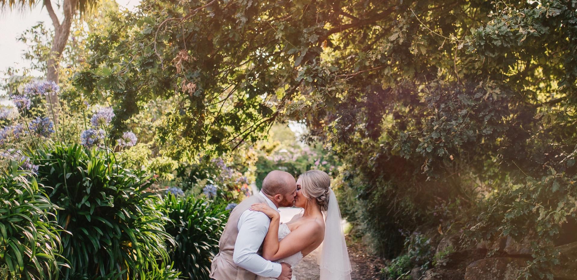 Bride and Groom at Hawley House