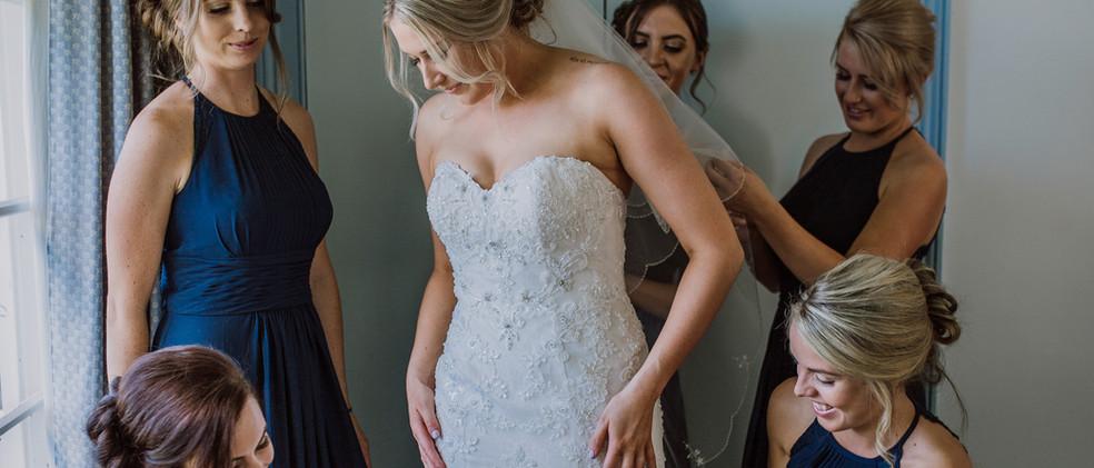 Brides getting ready