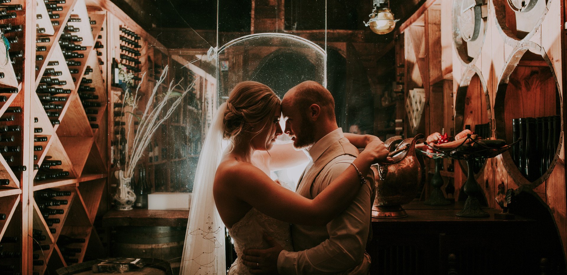 Wine cellar wedding