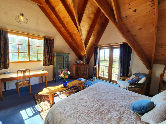 Heritage balcony stables loft room at Hawley House