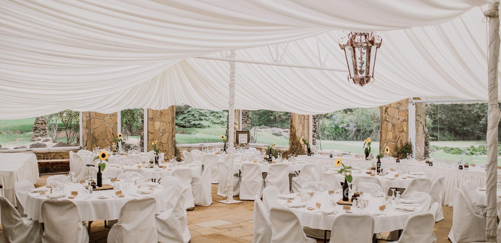 Marquee Wedding reception venue tasmania