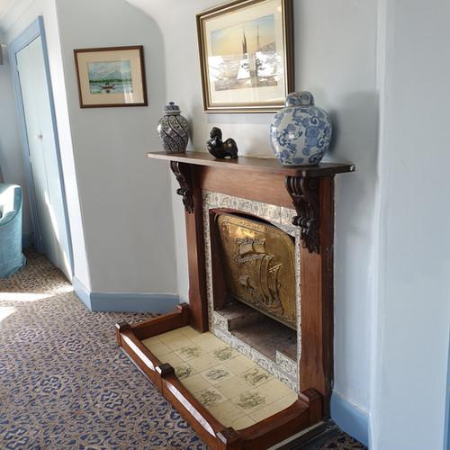 Blue Room fireplace