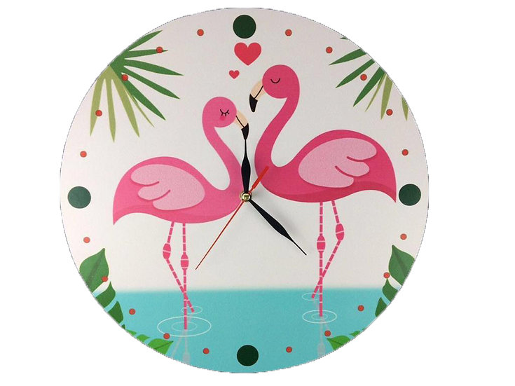 Flamingo love Wall Clock for Kids
