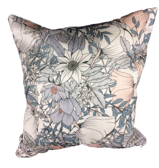 Flower cushion cover Cotton Linen Square Cushion Covers