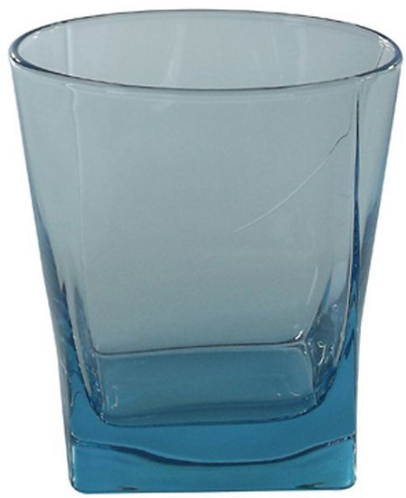 Pasabahce Glass Carre Drink Glass Set 6 Pieces - Aqua