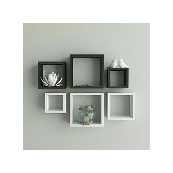 Modern Decor Shelf. Black And White - 6 Pcs