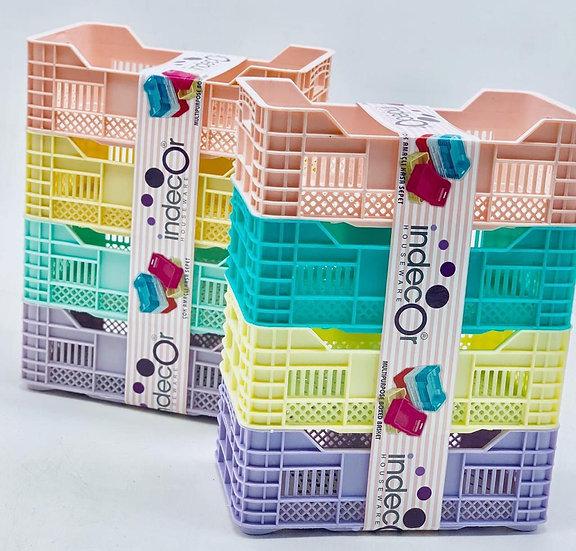 Multipurpose Mini Plastic Case Basket, 1 case