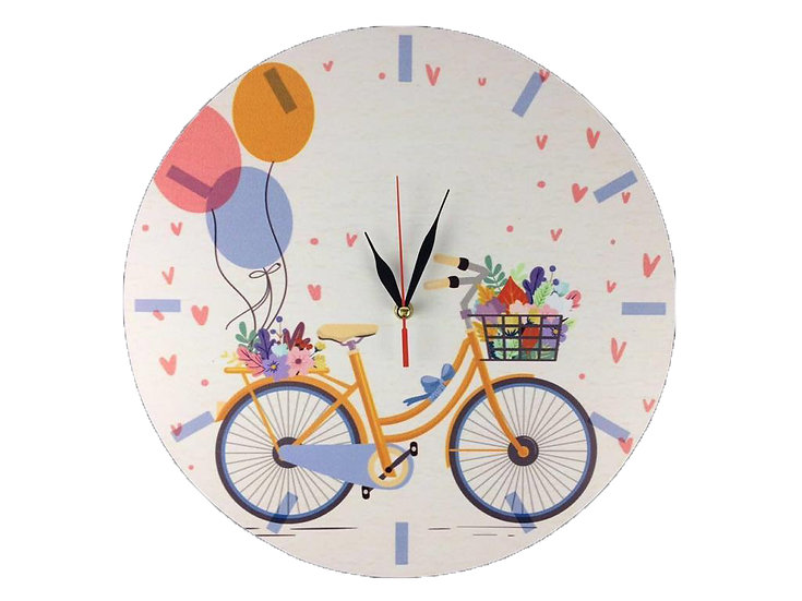 Bicycle Wall Clock for Kids