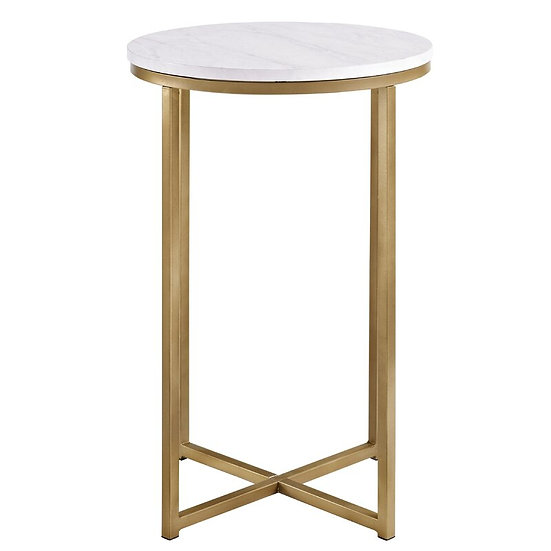 Glamour round side table