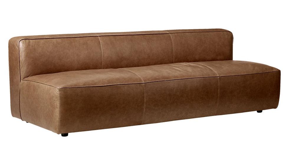 Leather Armless Sofa
