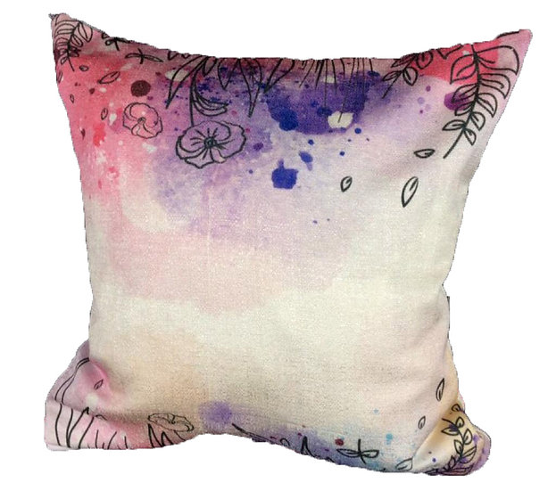 Flower land cushion cover Cotton Linen Square Cushion Covers