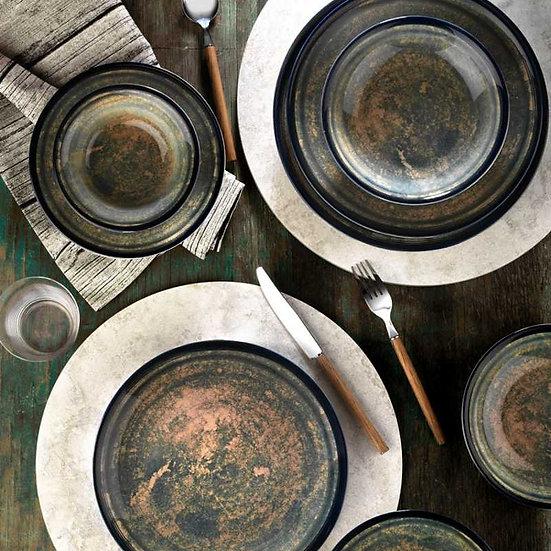 KUTAHYA Porselen Teos 24 Parça Yemek - 24 Pcs Set