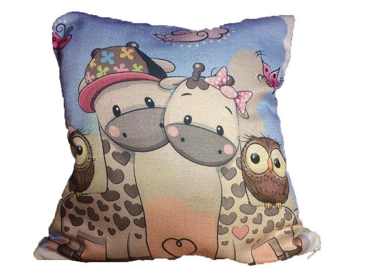 Happy farm cushion cover Cotton Linen Square Cushion Covers