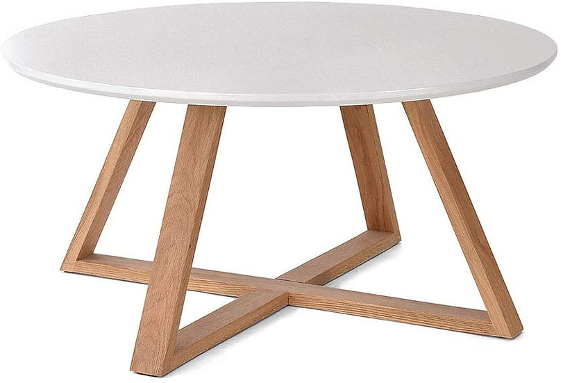 Small Round Table white