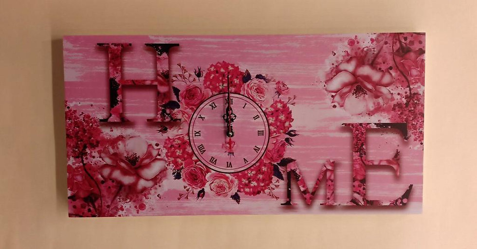 Home Flower Wall Clock