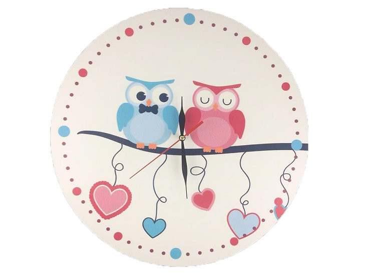 Lovely Owl Wall Clock for Kids