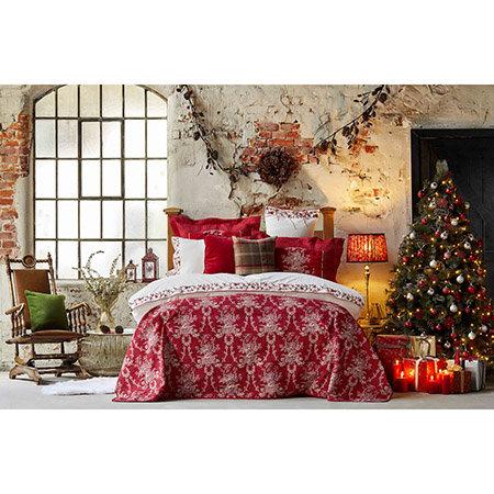Karaca Home Orestes Red Duvet Cover and Bedspread Set