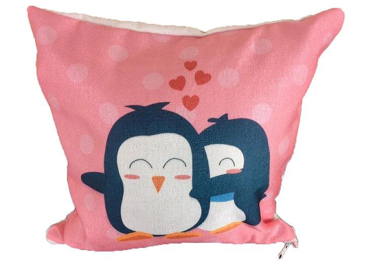 Cute penguin cushion cover Cotton Linen Square Cushion Covers