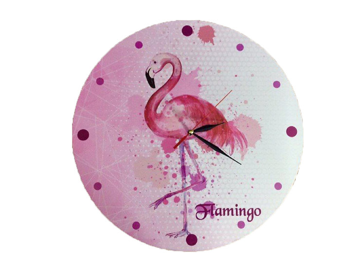 Flamingo Wall Clock for Kids