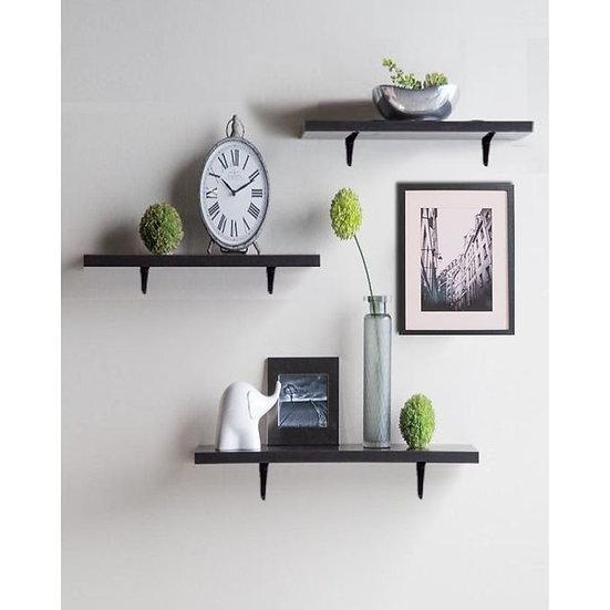 Modern Shelf Set - 3 Pcs - Dark Brown