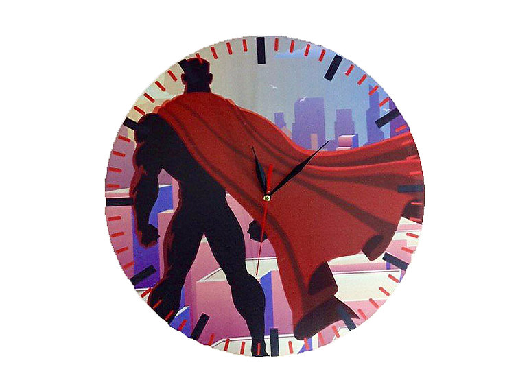 Superman Wall Clock for Kids
